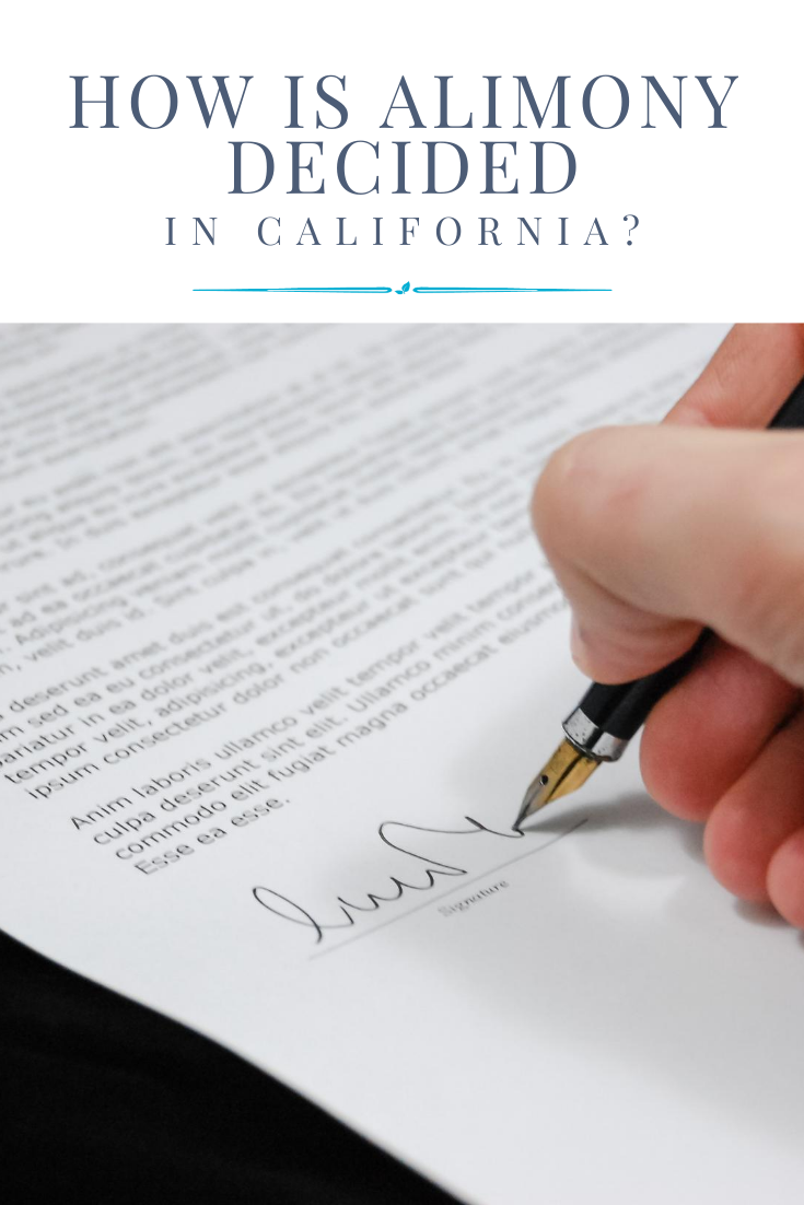 alimony laws in California