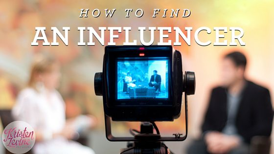 How to find an influencer